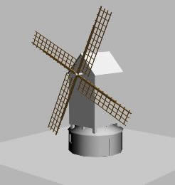 Planos de Molino medieval 3d, en Edificios varios – Historia