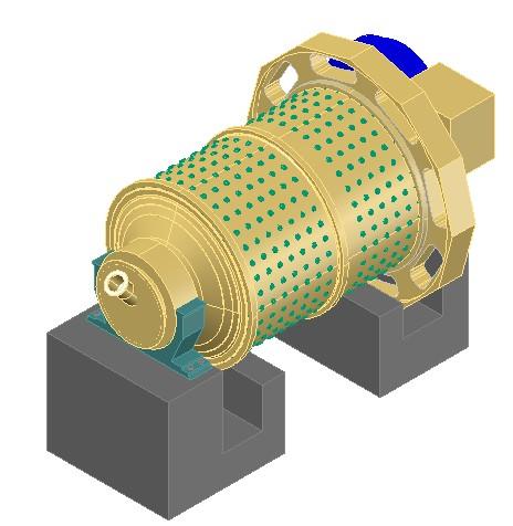 imagen Molinos de bola 3d, en Industria minera - Máquinas instalaciones