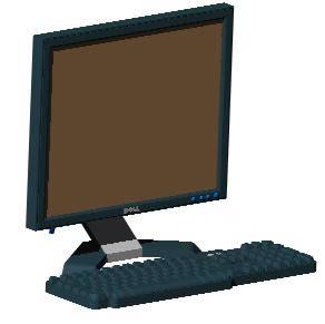 Planos de Monitor dell flat 17 3d, en Informática – Muebles equipamiento