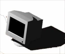 Planos de Monitor en 3d, en Informática – Muebles equipamiento