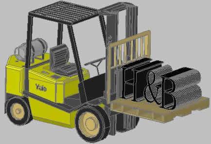 Planos de Montacargas 3d, en Maquinaria – Obradores