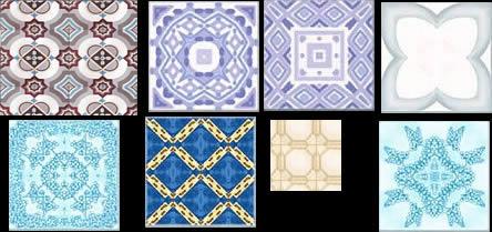 Planos de Mosaicos, en Pisos graníticos y porcelanatos – Texturas