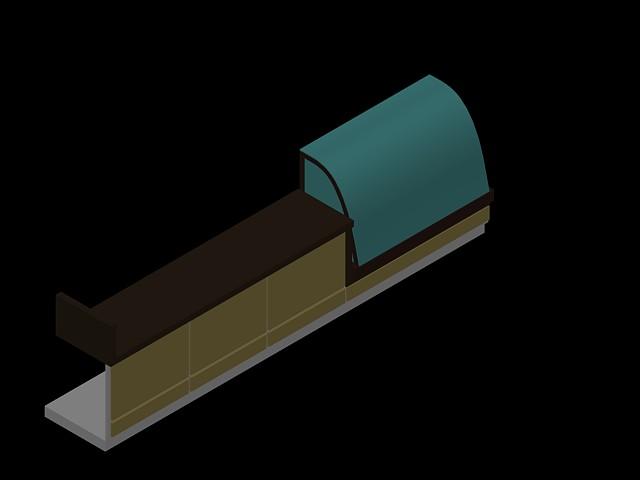 imagen Mostrador 3d con exhibidor de pasteleria, en Bares y restaurants - Muebles equipamiento