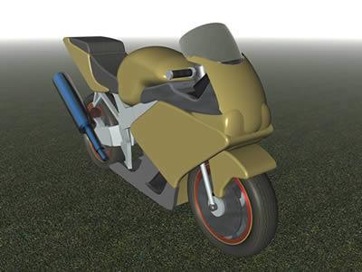 imagen Moto honda 3d, en Motos y bicicletas - Medios de transporte
