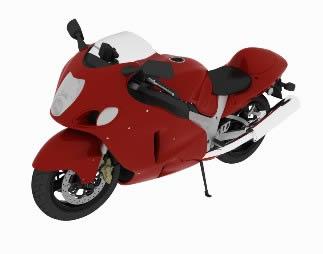 Moto modelo 3d max, en Motos y bicicletas – Medios de transporte