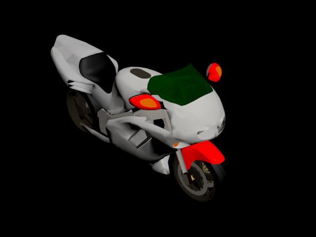 Moto roja n02, en Motos y bicicletas – Medios de transporte