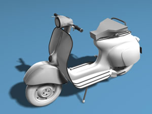 imagen Moto vespa 3d, en Motos y bicicletas - Medios de transporte