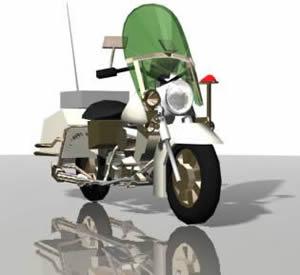 Motocicleta 3d, en Motos y bicicletas – Medios de transporte
