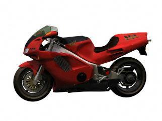 imagen Motocicleta 3d - honda, en Motos y bicicletas - Medios de transporte