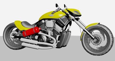Motocicleta harley 3d, en Motos y bicicletas – Medios de transporte