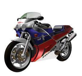 imagen Motocicleta honda vfr -, en Motos y bicicletas - Medios de transporte