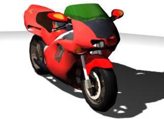 Motocicleta pistera 3d, en Motos y bicicletas – Medios de transporte