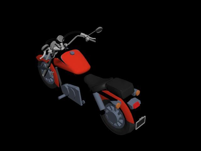 Motocicleta roja n03, en Motos y bicicletas – Medios de transporte
