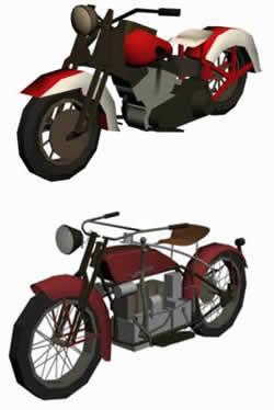 imagen Motocicletas clasicas 3d, en Motos y bicicletas - Medios de transporte