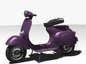 Motoneta vespa 3d, en Motos y bicicletas – Medios de transporte
