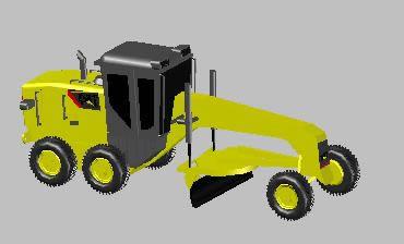 imagen Motoniveladora 3d, en Industria minera - Máquinas instalaciones