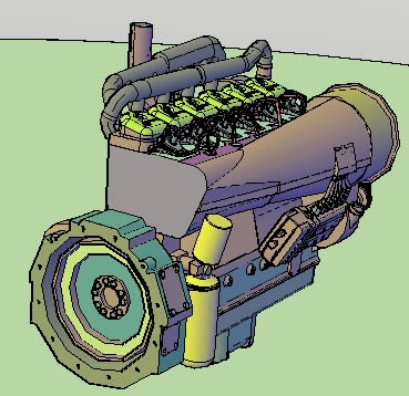 imagen Motor 3d, en Maquinaria - proyectos varios - Máquinas instalaciones