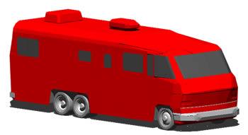 imagen Motor home en 3d, en Autobuses - Medios de transporte