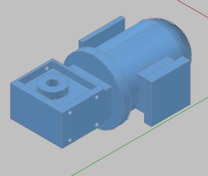 imagen Motor reductor, en Maquinaria - proyectos varios - Máquinas instalaciones