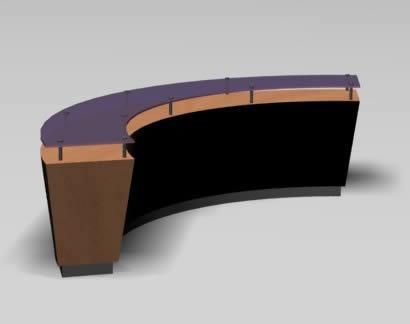 Muble recepcion 3d, en Estanterías y modulares – Muebles equipamiento
