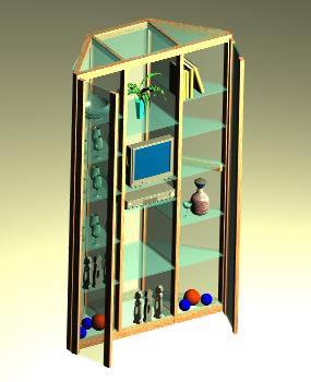 Planos de Mueble 3d con materiales, en Estanterías y modulares – Muebles equipamiento