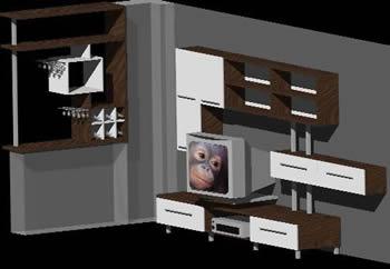 imagen Mueble 3d, en Estanterías y modulares - Muebles equipamiento