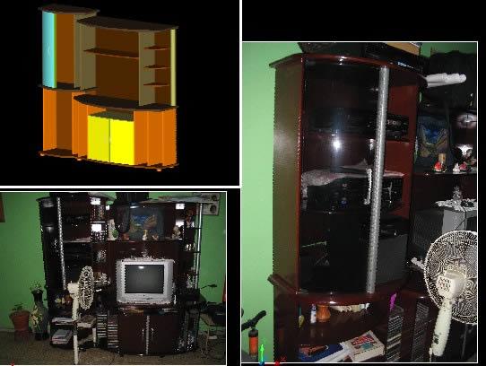 imagen Mueble 3d., en Estanterías y modulares - Muebles equipamiento