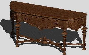Planos de Mueble antiguo 3d, en Estanterías y modulares – Muebles equipamiento