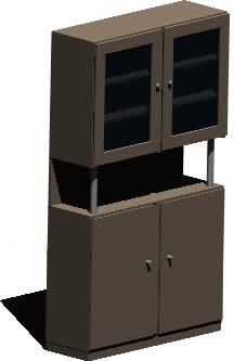 imagen Mueble armario 3d, en Estanterías y modulares - Muebles equipamiento