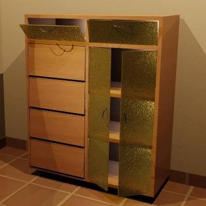 Mueble auxiliar 3d, en Estanterías y modulares – Muebles equipamiento