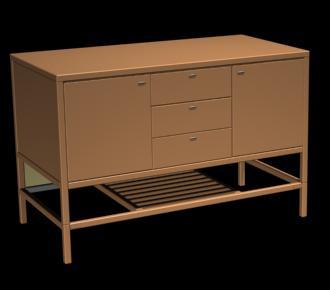 Mueble cajonera 3d, en Estanterías y modulares – Muebles equipamiento