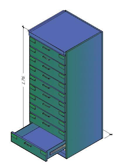 Planos de Mueble cds, en Muebles varios – Muebles equipamiento