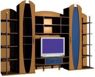 imagen Mueble combinado  3d, en Salas de estar y tv - Muebles equipamiento