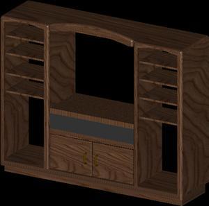 Planos de Mueble con estantes, en Estanterías y modulares – Muebles equipamiento