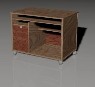 Mueble con ruedas 3d, en Muebles varios – Muebles equipamiento