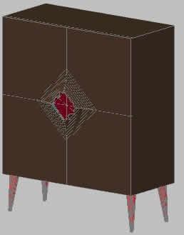 Planos de Mueble contenedor 3d, en Muebles varios – Muebles equipamiento