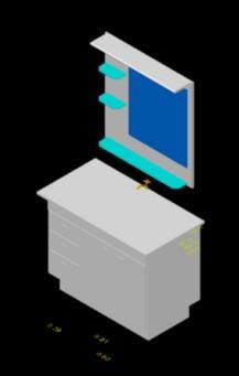 Planos de Mueble de baño 3d, en Baños – Muebles equipamiento