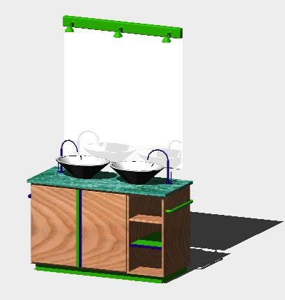 Planos de Mueble de baño 3d, en Electrodomésticos – Muebles equipamiento
