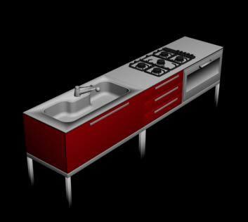 imagen Mueble de cocina 3d, en Cocinas - Muebles equipamiento