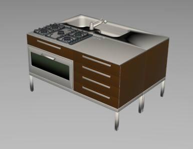 Mueble de cocina 3d, en Cocinas – Muebles equipamiento