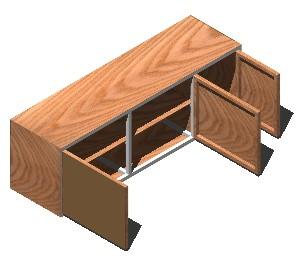 Planos de Mueble de cocina – alacena 3d, en Cocinas – Muebles equipamiento