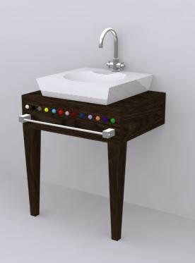 Mueble de lavamanos, en Lavatorios – Sanitarios