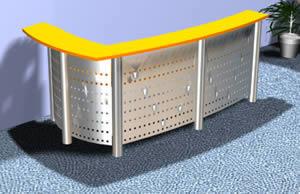 Planos de Mueble de recepción 3d, en Centros de información y recepción – Muebles equipamiento