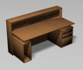 Planos de Mueble de recepcion 3ds, en Oficinas y laboratorios – Muebles equipamiento