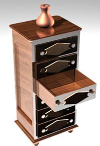 Planos de Mueble decorativo 3d, en Estanterías y modulares – Muebles equipamiento