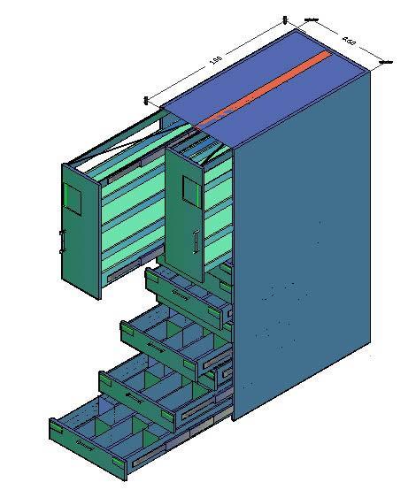Planos de Mueble drogueria 3d, en Oficinas y laboratorios – Muebles equipamiento