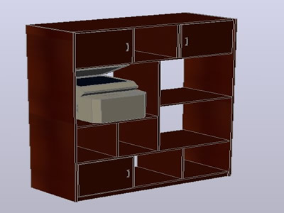 Planos de Mueble, en Estanterías y modulares – Muebles equipamiento