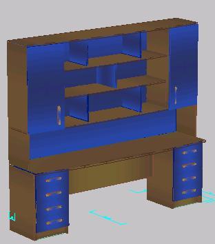 Planos de Mueble escritorio 3d, en Escritorios – Muebles equipamiento