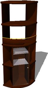 Planos de Mueble esquinero 3d, en Estanterías y modulares – Muebles equipamiento