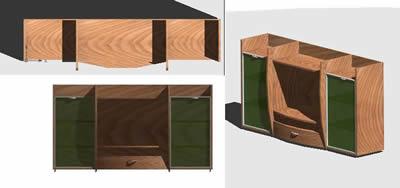 Planos de Mueble estante 3d, en Muebles varios – Muebles equipamiento